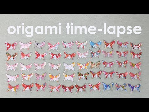 Origami Time-Lapse: Folding 50 Alexander Swallowtail Butterflies (Michael LaFosse)