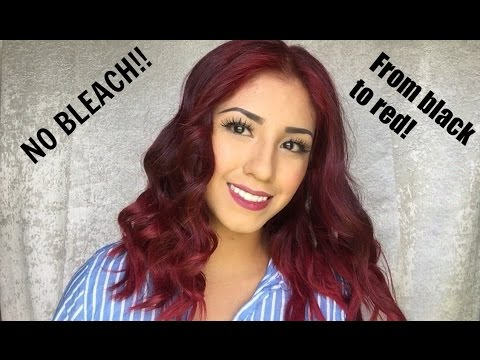 No BLEACH! From black to RED!