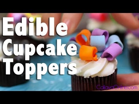 How to use Ready-Made Cupcake Toppers | Cake Tutorials