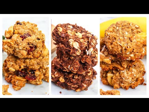 3 Healthy Granola Cookies   Vegan, Gluten-Free & Dairy-Free