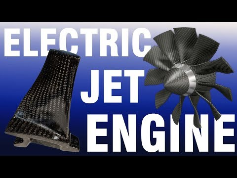 CARBON FIBER BLADES for an ELECTRIC JET ENGINE