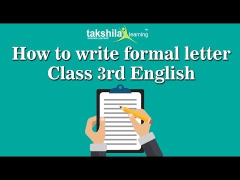 CBSE class 3 English |LETTER WRITING IN FORMAL LETTER|NCERT Solution | ICSE