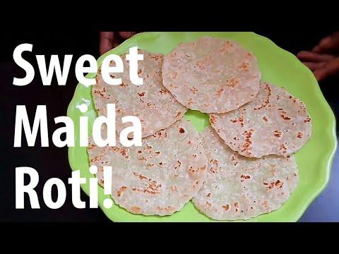 Sweet maida Roti   இனிப்பு மைதா ரொட்டி   sweet Maida Roti in Tamil