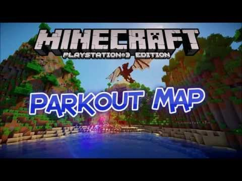MINECRAFT PS3 GIANT PARKOUT MAP w/DOWNLOAD LINK DISC & DIGITAL