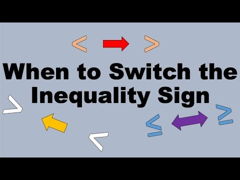 When Do You Need to Change Inequality Signs?