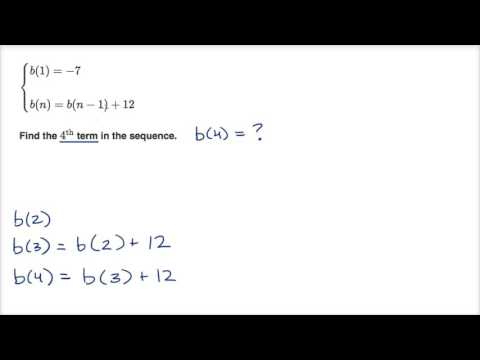 Worked example: using recursive formula for arithmetic sequence | High School Math | Khan Academy