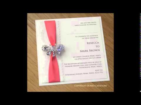 Diamante and Crystal Wedding Invitations and Stationery by Bubbly Creations