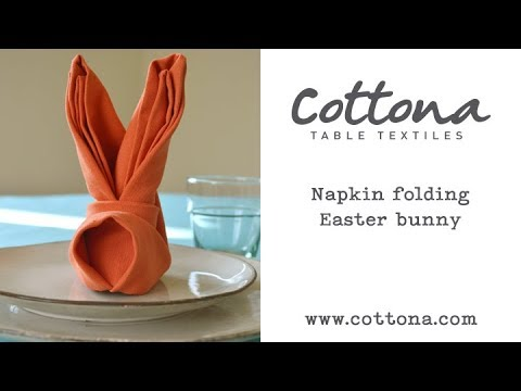Napkin folding Easter Bunny