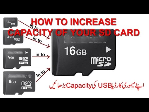 How to increase sd card or usb size