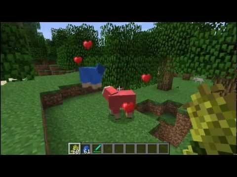 Minecraft 1.0 Breed coloured sheep!