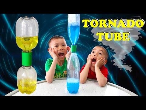 Tornado Tube | Cool Easy Science Experiment for Kids | Lucas & Ryan | ittibittimi & Toyz