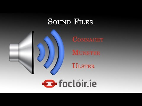 Accessing the Sound Files on the New English-Irish Dictionary website