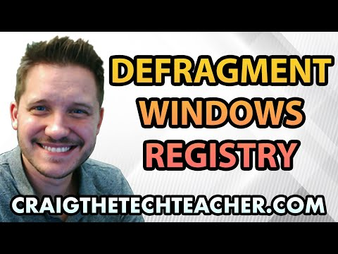 How To Defragment The Windows 7 Registry Free - Ep. 32