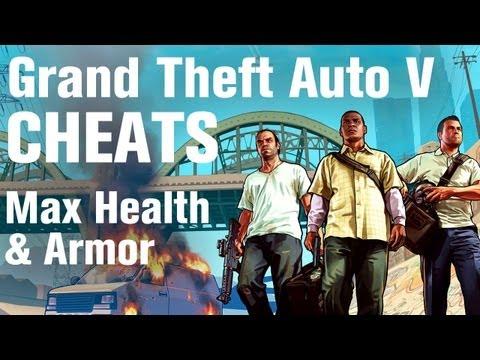 GTA 5 Cheats - Max Health and Armor