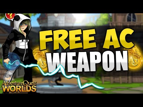 Free AC Non Member Animated Weapon!!! AQW AdventureQuest Worlds