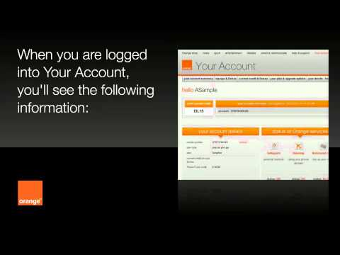 help   Your Account - pay as you go   Orange UK