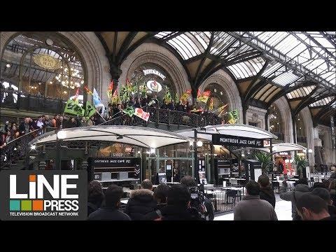 Premier jour de grève à la Gare de Lyon / Paris - France 03 avril 2018