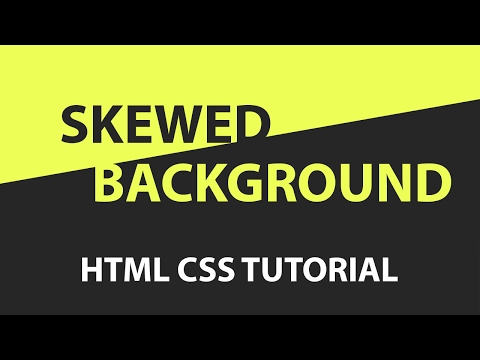 CSS Skewed Background Tutorial -  pure css tutorial