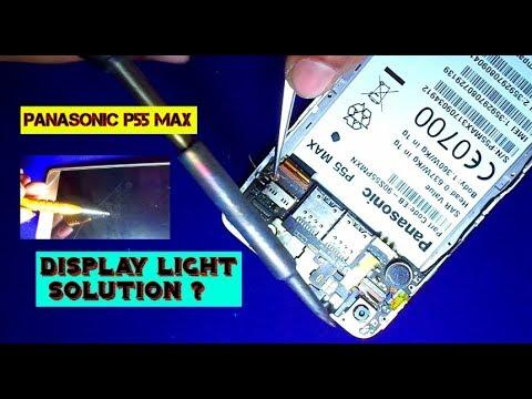 Display Light Problem How To Repair (Panasonic P55 Max)  Eshan Mobile Guru