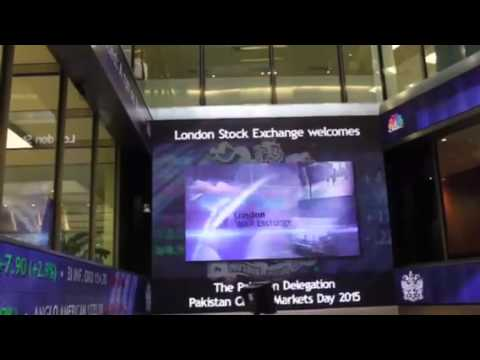 London stock market opened by Pakistan