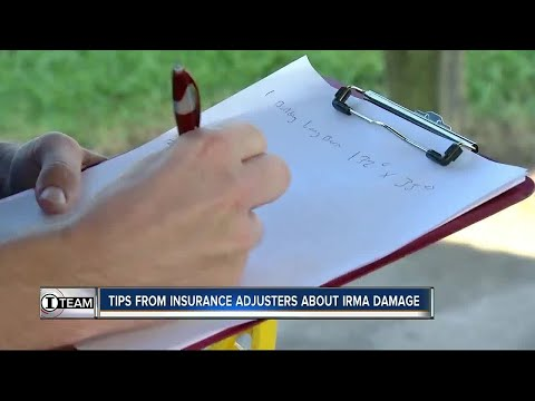 Tips from insurance adjusters about Irma damage