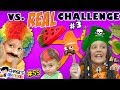 GUMMY vs. REAL FOOD CHALLENGE #3 🍉 Chase's Corner Halloween Brothers |#55 DOH MUCH FUN