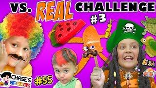 GUMMY vs. REAL FOOD CHALLENGE #3 🍉 Chase