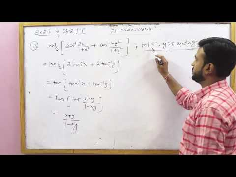 NCERT 12 Math's Ex 2.2 Ch 2 Inverse Trigonometric Functions hints & solutions (Part 2)