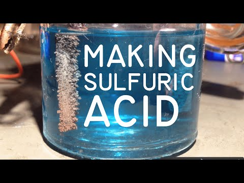 Electrolysis of Copper Sulphate for making Sulphuric Acid