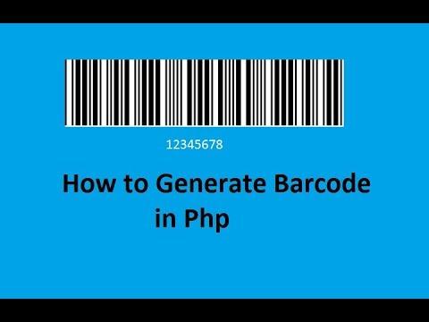 Generate Barcode In Php  in Hindi/Urdu