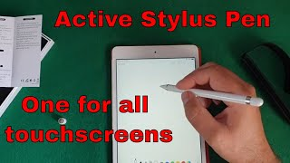 Active Stylus Pen for Touch Screens - box opening and setting up