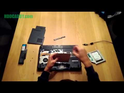 How-to Compal NBLB2 adding 2nd HDD / SSD using DVD / optical drive bay with HDD Caddy