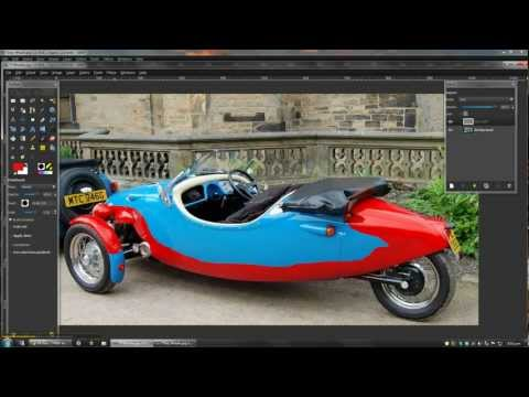 How to Change the Colour of Objects using Gimp
