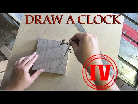 Draw a Clock Using a Compass // TIPS