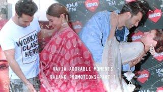 彡Varia adorable moments from Kalank promotions | Part 1 | Varia VM | Kalank