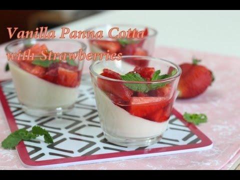 Vanilla Panna Cotta With Starwberries| Gelatin Vs Agar Agar | How to use Agar Agar