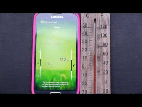 App Thermometer (no internet)  Android, S-Health Samsung Galaxy S4 (temperature and humidity sensor)