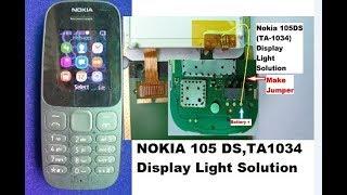 NOKIA 105 (2017) Ta1010 Display Light Ways Jumper Solution
