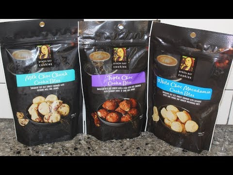 Byron Bay Cookies Cookie Bites: Milk Choc Chunk, Triple Choc & White Choc Macadamia Review
