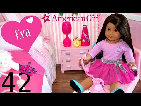 American Girl Doll Eva's PRINCESS Bedroom | My Life As Eva