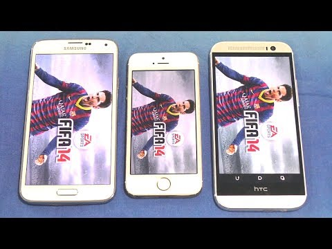Samsung Galaxy S5 Vs Htc One M8 Vs Iphone 5S Opening Apps & Multitasking Speed