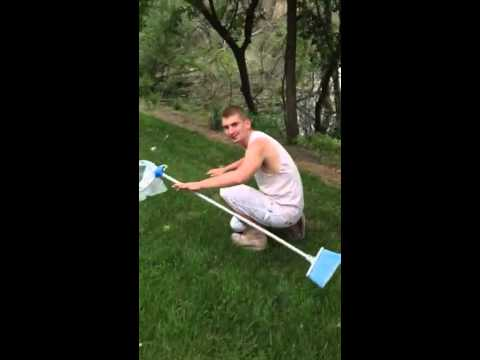 How to catch a frog with a broom