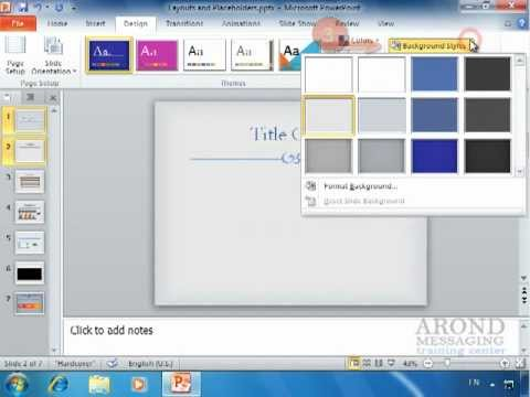 Using PowerPoint 2010 - Apply a Texture or Picture Background