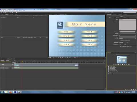 Adobe Encore CS6 Tutorial: Creating Menus and Timelines