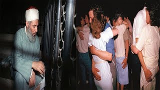 شيخ عربي يدخل أحد الملاهي في سوريا للدعوة والكل على هذا الشكل ثم حدث هذا !!