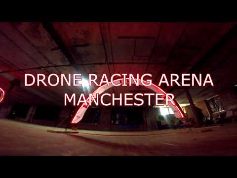 Manchester Drone Racing Arena , First Flight.