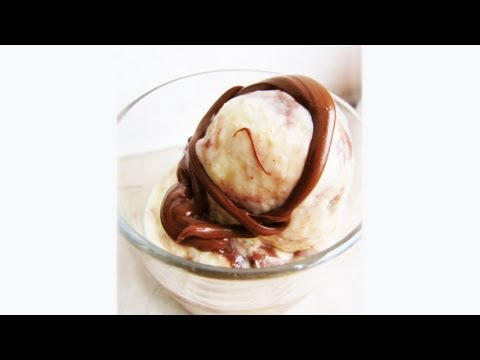 How to make White Chocolate Nutella gelato ice cream without ice cream maker at home: recipe