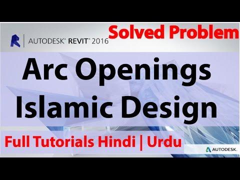 How To Create Arc Openings or Islamic Design In Autodesk Revit   Hindi   Urdu  
