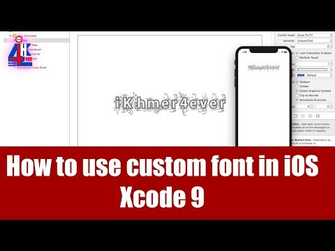 how to use custom font in ios programmatically Xcode 9