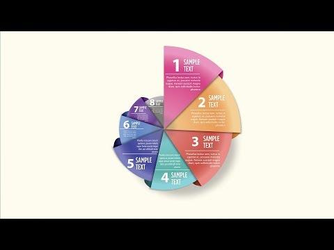 Illustrator CC Tutorial | Graphic Design | Pie Chart Infographic